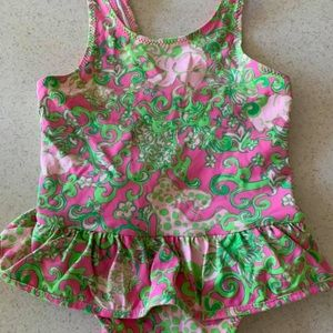 Lilly Pulitzer Baby Girls 1 Pce Swimsuit 6 12 mos